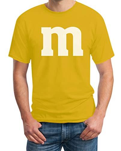 Süßes M Outfit Herren Karneval Fasching Gruppen-Kostüme T-Shirt Medium Gelb