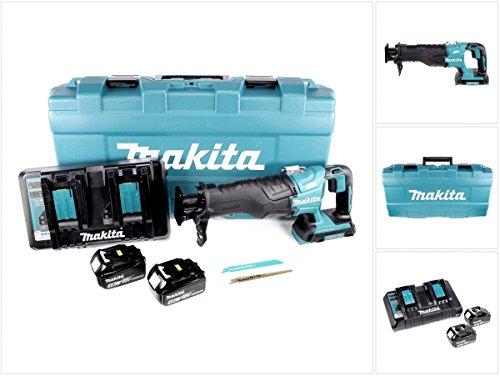 Preisvergleich Produktbild Makita DJR 360 PMJ Reciprosäge Säbelsäge im Koffer 2x 18 V mit 2x BL 1840 4,0 Ah Akku und Doppel Ladegerät