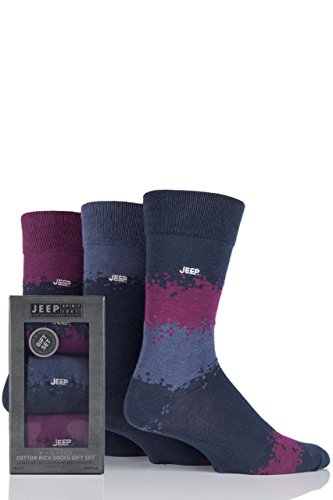 mens-3-paire-jeep-striped-cotton-socks-gift-box-airforce-berry-6-11-mens