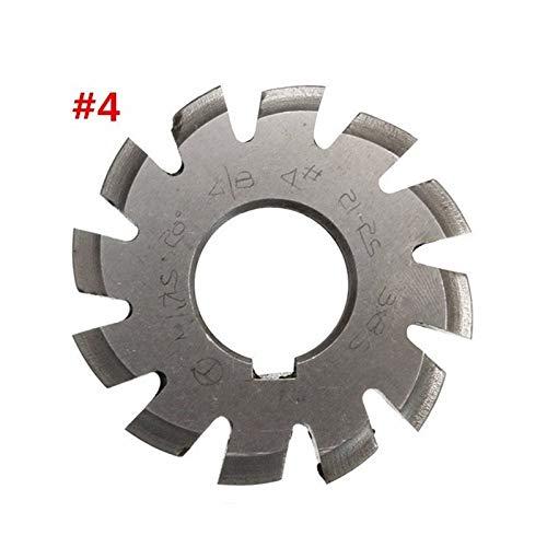 L-Yune-wj Durchmesser 22mm M1.75 20 Grad # 4 Involute Zahnradfräser Fräser Set HSS Schnellarbeitsstahl Werkzeugmaschinen Zubehör