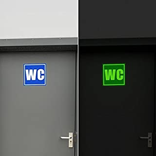ABCUV Glow in the Dark WC Toilet Sign Sticker
