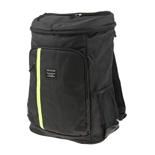 perfk Wasserdichte Rucksack Kühltasche/Picknick Kühlbag/isoliert Picknicktasche mit 32.8L Kapazität - Schwarz