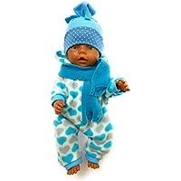 Handarbeit Puppenkleidung 43 cm passend für zb Baby Born Kleidung Set Handmade 79