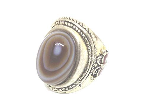 Vintage Sterling Silver Evil eye agata anello di (Evil Eye Anello)