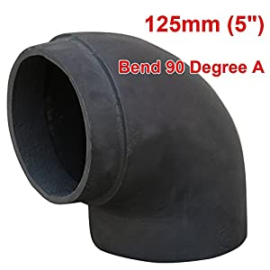 """Lincsfire 125mm 5"""" Matt Black Chimney Stove Flue Pipe for Use with Wood Burning Or Multi Fuel Stoves - 5 Types"""