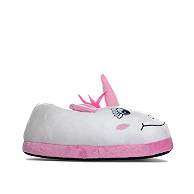 brave soul womens unicorn slippers in white pink amazon. Black Bedroom Furniture Sets. Home Design Ideas