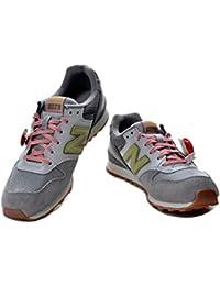 Zapatillas New Balance Mujer 996 M019 - Gris con verde y rosa