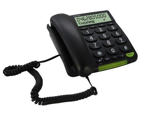 Doro PhoneEasy 312cs Schnurgebundenes Großtastentelefon mit großem Display schwarz