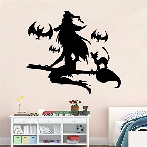 Zxdcd Abnehmbare Wandaufkleber Vinyl DIY Happy Halloween Wand Fenster Aufkleber Aufkleber Kunst Vinyl Home Zimmer Dekoration Wandbild Aufkleber 64x57cm