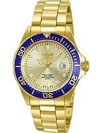 Invicta Pro Diver Unisex Wrist Watch Stainless Steel Quartz Gold Dial - 14124