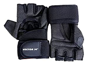 Vector X VX-500 Gym Gloves, Medium (Black)