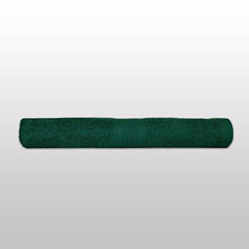 Klassisches Frottier-Set - Qualität 500 g/m² - alle Größen und Farben - 100% Baumwolle - 4 Set Varianten - 10er Pack Seiftücher (30 x 30 cm) - dunkelgrün / tanne