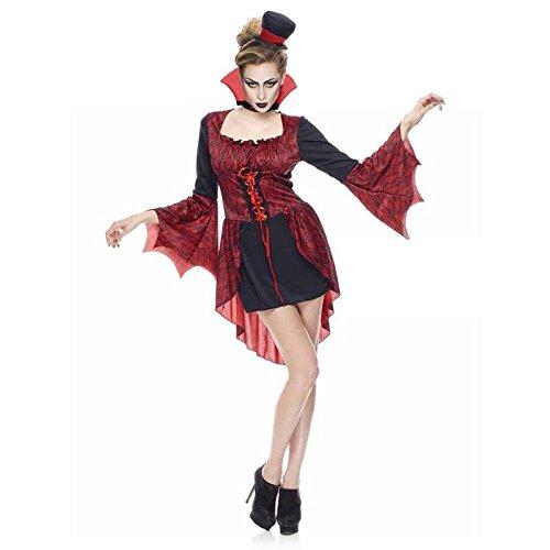 Unbekannt Générique Kostüm Vampir - Für Erwachsene Sexy Vampir Kostüm