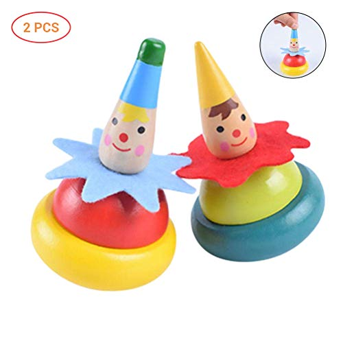 EisEyen - Set di 2 trotole in Legno per Giocattoli, Ideali Come Regalo per Bambini