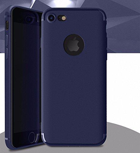 König-Shop TPU Silikon Case Stecker Staubschutz für Handy Apple iPhone 6 / 6s Cover Bumper Schutz Hülle Transparent Blau