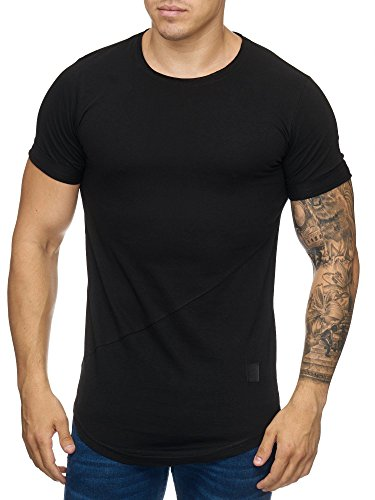 Cabin Oversize Herren Vintage Rundhals T-Shirt Washed Basic Schwarz