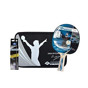 Donic-Schildkröt Tischtennis Premium-Geschenkset Ovtcharov 700, 1 Schläger, 3 Bälle 3* ITTF, wertige Schlägerhülle…