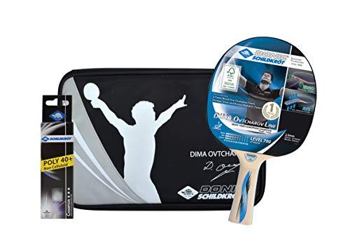 schtennis Premium-Geschenkset Ovtcharov 700, 1 Schläger, 3 Bälle 3* ITTF, wertige Schlägerhülle, hochwertiges Komplettset, 788483 ()