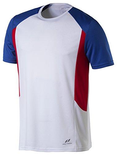 Pro Touch Cup Herren T-Shirt, Weiß/Blau/Rot, L -
