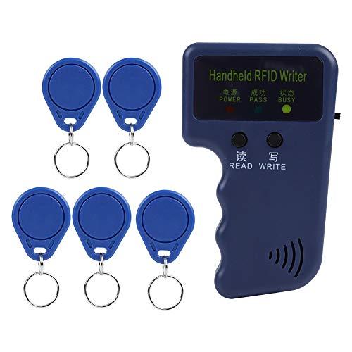RFID Karten Kopierer Tragbarer RFID Ausweis Kopierer mit 5 Tags, Integrierter Transceiver Antenne, Einzelnen LED Leuchten und Summer Anzeige, Unterstützung von 125 kHz EM4100 / EM410X - Antenne Transceiver