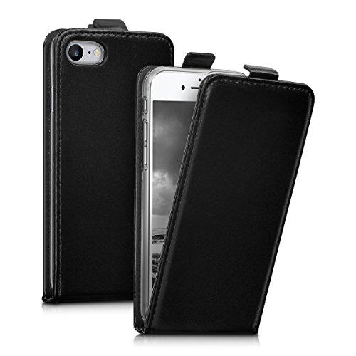 kwmobile Hülle für Apple iPhone 7 / 8 - Flip Case Handy Schutzhülle Kunstleder - Flipcover Cover Schwarz