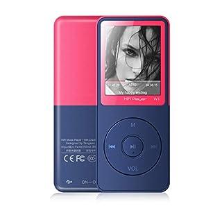 Lecteur MP3, Vorstik HiFi Lecteur de Musique Numérique1.8 TFT Écran 8Go Supporte carte SD 64Go, Radio FM, Enregistreur Vocal, Lecteur ebook