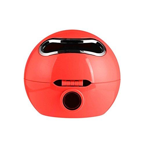 Momongel Ball Form Emoji-Kosmetiktücher Badezimmer Wasserdicht WC-Rolle Papier Box Halter, plastik, rot, S