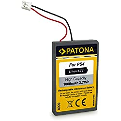 Patona® LIP1522 Batterie pour PS4 Dualshock 4 Contrôleur Manette Version 1-3, Playstation 4 Accu Li-ION 3,7V 1000mAh
