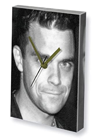 ROBBIE WILLIAMS - Canvas Clock (A4 - Signed by the Artist) #js003 by Canvas Clocks (A4) - Music
