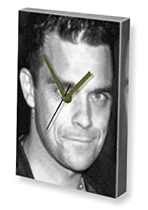 ROBBIE WILLIAMS - Canvas Clock (A5 - Signed by the Artist) #js003