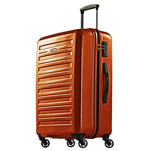 Probeetle Valigia Voyager IX 67cm 70L Leggero Guscio duro in policarbonato 4 Ruote silenziose Lucchetto TSA Arancione