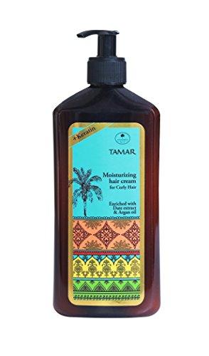 Schwartz Tamar Moisturizing Hair Cream for Curly Hair & Wavy Hair Curl Defining Cream with Keratin Date Extract & Argan Oil for Women & Men SLS Paraben & Cruelty-Free, 16.90 Fl. Oz -