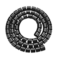 XFentech 10 Meters Spiral Cable Tidy Sleeves - Universal Cable Tidy Tube Cutable Hide Wires Protect Cable from Pet