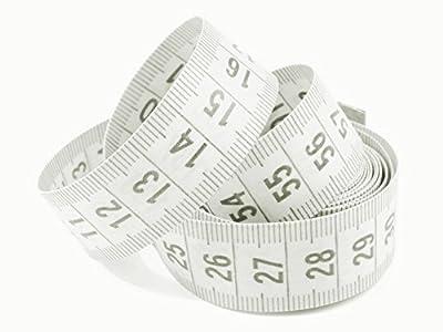1 Maßband weiß 150cm inkl. Aufbewahrungsdose, Schneidermaßband, Bandmaß
