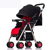 Ambiguity Kinderwagen,Tragbare Baby Kinderwagen Kinderwagen Baby Trainer können sitzen Faltbare Vier-Jahreszeiten-Universal-Trolley