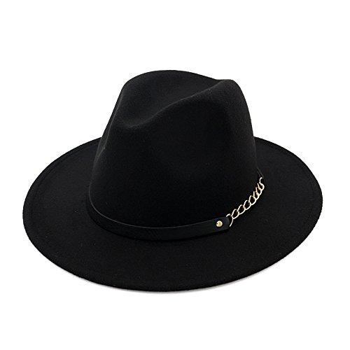 Mujeres Chicas Modernos Otoño Invierno Retro Sombreros Fedora Sombreros Trilby Negro