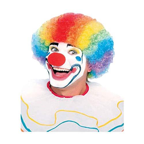 Dress Up America Mehrfarbige lockige Regenbogen-Clown-Perücke