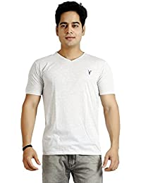 Basilio Men's V-Neck-Half Sleeves Cotton T-Shirt
