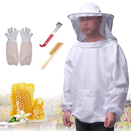 Gesichts-starter-kit (L-DiscountStore 4 Teile/Satz Beekeeping Starter Kit Imkereiausrüstung für professionelle Imker)