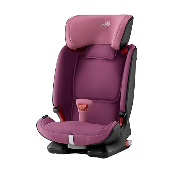Britax Römer ADVANSAFIX IV M Group 1-2-3 (9-36KG) Car Seat- Wine Rose Britax Römer Our patented pivot link isofix system directs the force first downward into the vehicle seat, and then forward more gently - greatly reducing the risk of head and neck injury for your child We believe that a 5-point harness is the safest way to secure your child in a car seat because it keeps your child safe and tight in the seat's protective shell Soft neoprene performance chest pads fit comfortably on your child's chest. They help reduce your child's movement in the event of a collision, and add even greater comfort to the 5-point harness 2