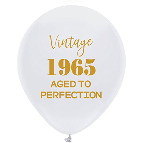 Luftballons - 30,5 cm (16) Damen und Herren Gold 53th Geburtstag Party Dekorationen oder Supplies ()