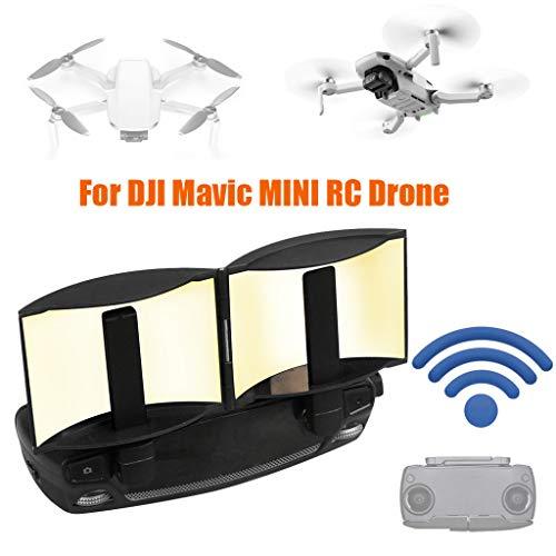 Upxiang Fernbedienung Range Extender Signalverstärker für DJI Mavic Mini Drohne Zubehör, Faltbarer Antennen Signal Range Booster mit Tragetasche für DJI Mavic Mini (A)