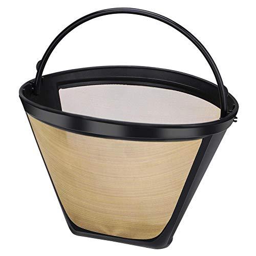 Wiederverwendbare Kaffeemaschine Zubehör Edelstahl Geschirr Cone-Style Küchenhelfer Kaffeefilter ()