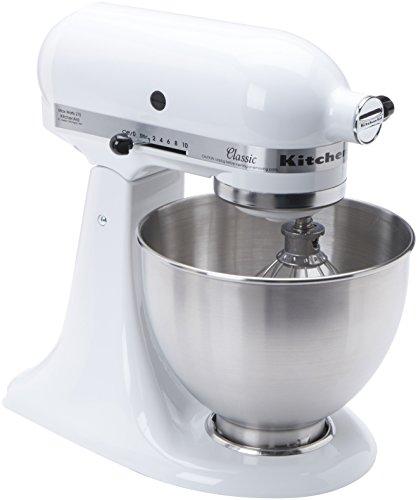 KitchenAid Küchenmaschine K45SSEWH Classic, Weiß