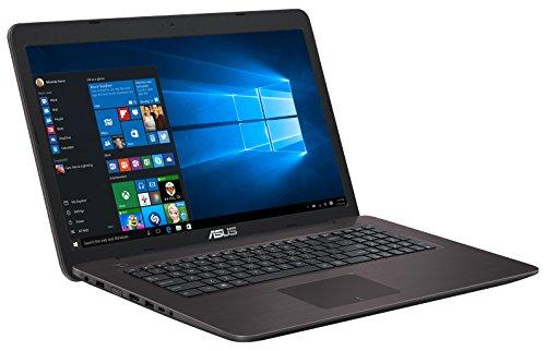 Asus F756UQ-TY283T 43,94 cm (17,3 Zoll, Glänzend Full-HD Display) Notebook (Intel Core i5-7200U, 12GB Arbeitsspeicher, 1TB HDD Festplatte, NVidia 940MX, Win 10) dunkelbraun