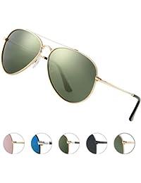 1e111deaeb0cc Elegear Gafas de Sol Vintaje Hombre 2018 Gafas Hombre polarizadas con  estilo Redondo y Cuadrado,