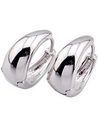 Gadgetsden Oxidized Silver Kaju Bali Hoop Ear Studs For Men (15Mm & 20Mm)