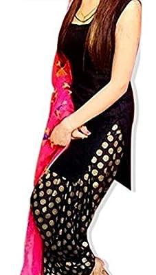 Beautiful yet simple punjabi suit for girls and womens with contrast phulkari dupatta