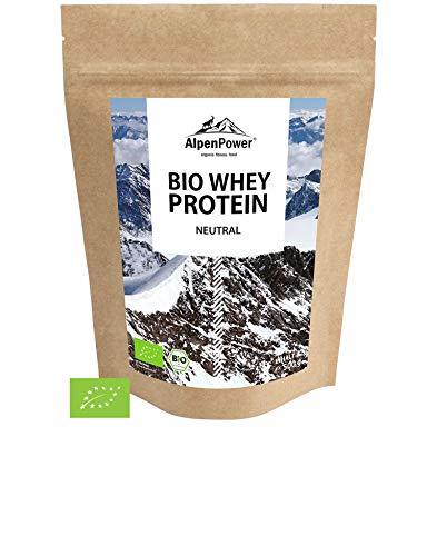 ALPENPOWER | BIO WHEY Protein Neutral | Ohne Zusatzstoffe | 100{97fe679c2f2132849d96893d5b4ddbc9593bb6f986cf92b64c822a99764c1456} natürliche Zutaten | 7 Sorten | Bio-Milch aus Bayern und Österreich | Ökologisch & nachhaltig | Hochwertiges Eiweiß | Low Carb | 500 g