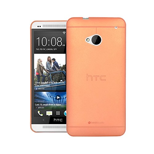 HTC One M7 Cover, Leaf Hybrid Protective Case for HTC One M7 Orange